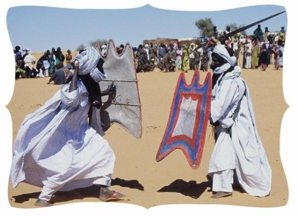 l'inauguration de la fete avec la takouba 